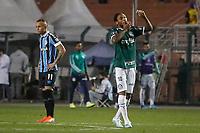 SÃO PAULO, SP 27.08.2019: PALMEIRAS-GRÊMIO - Luiz Adriano comemora gol. Palmeiras e Grêmio, durante partida válida pelas quartas de final da Libertadores, no Pacaembu, zona oeste da capital, na noite desta terça-feira (27). (Foto: Ale Frata/Código19)