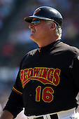 September 2 2008:  Manager Stan Cliburn of the Rochester Red Wings, Class-AAA affiliate of the Minnesota Twins, during a game at Frontier Field in Rochester, NY.  Photo by:  Mike Janes/Four Seam Images