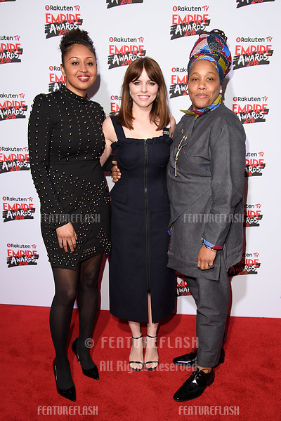 Andrea Simon, Ophelia Lovibond &amp; Marai Larasi arriving for the Empire Awards 2018 at the Roundhouse, Camden, London, UK. <br /> 18 March  2018<br /> Picture: Steve Vas/Featureflash/SilverHub 0208 004 5359 sales@silverhubmedia.com