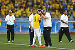 (L-R) Neymar, Luiz Felipe Scolari (BRA), JUNE 28, 2014 - Football / Soccer : FIFA World Cup Brazil 2014 round of 16 match between Brazil and Chile at the Mineirao Stadium in Belo Horizonte, Brazil. (Photo by AFLO)