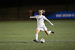 SALEM, VA - DECEMBER 3:Sarah Strachan (7) sends a ball down the field during theDivision III Women's Soccer Championship held at Kerr Stadium on December 3, 2016 in Salem, Virginia. Washington St Louis defeated Messiah 5-4 in PKs for the national title. (Photo by Kelsey Grant/NCAA Photos)