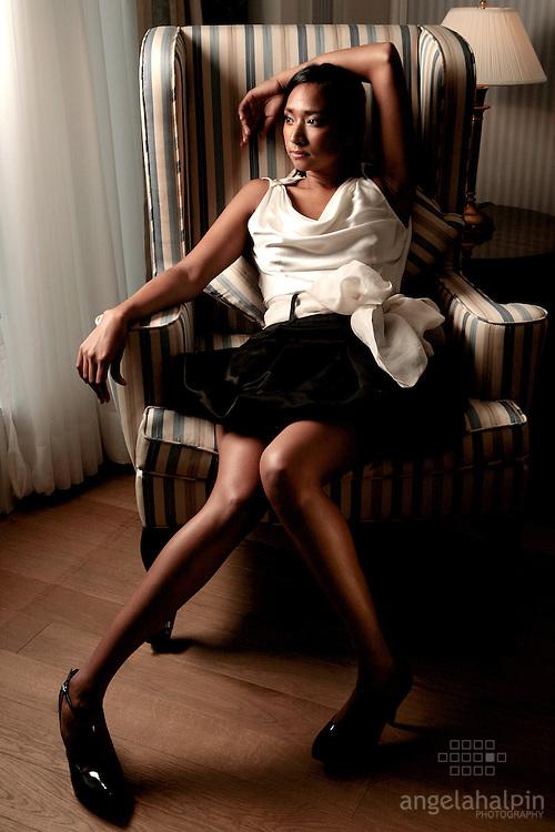 Fashion Designer: Yasmin Velloza.Photography by: Angela Halpin.www.lensload.com.Assisted by Joanna Carley.Location: Ritz-Carlton Powerscourt, Co Wicklow