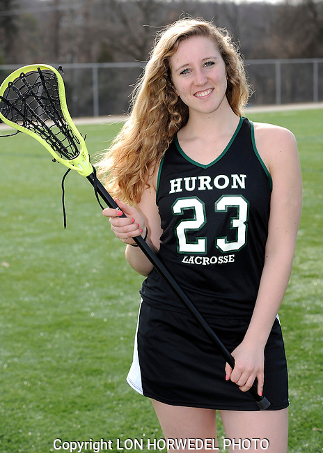 Huron High School girl's varsity lacrosse team. 4-2-14