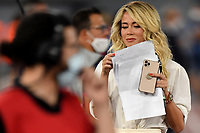 The Tv presenter Diletta Leotta at work prior to the Serie A football match between SS Lazio and Cagliari Calcio at Olimpico stadium in Rome ( Italy ), July 23th, 2020. Play resumes behind closed doors following the outbreak of the coronavirus disease. Photo Andrea Staccioli / Insidefoto