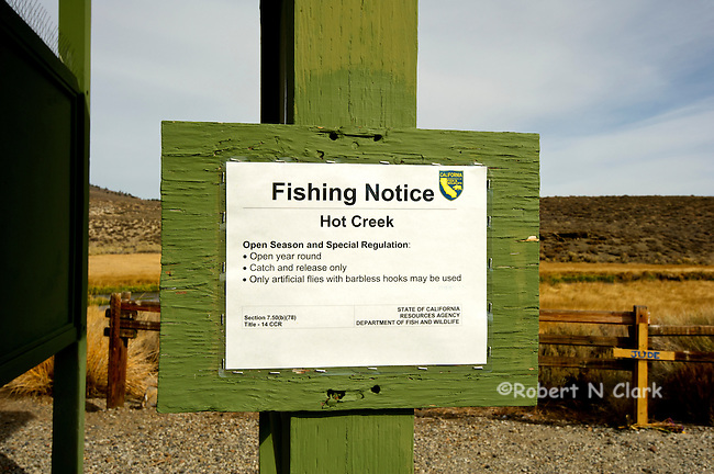 Hot Creek fly fishing area near Mammoth