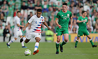 Dublin, Ireland - Saturday June 02, 2018: Tyler Adams during an international friendly match between the men's national teams of the United States (USA) and Republic of Ireland (IRE) at Aviva Stadium.