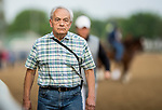LOUISVILLE, KY - MAY 03: Jerry Hollendorfer watches morning workouts in preparation for the Kentucky Oaks and Derby at Churchill Downs on May 3, 2018 in Louisville, Kentucky. (Photo by Alex Evers/Eclipse Sportswire/Getty Images)