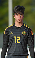 20180417 - TUBIZE , BELGIUM : Belgian Gaetano Bellante pictured during the friendly  soccer match between  under 15 teams of  Belgium and Switzerland , in Tubize , Belgium . Tuesday 17 th April 2018 . PHOTO SPORTPIX.BE / DIRK VUYLSTEKE