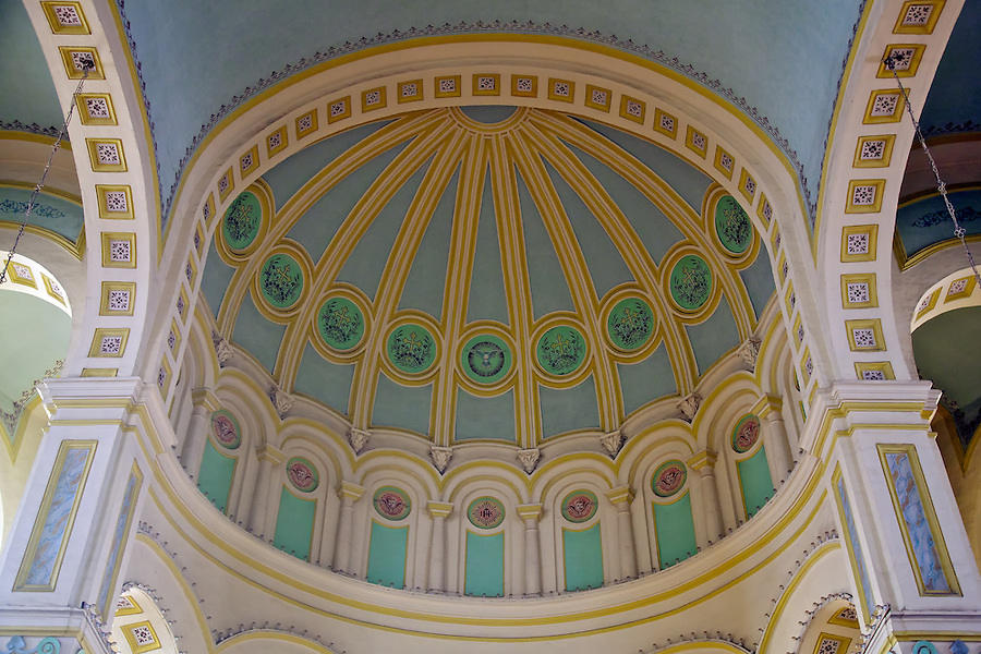 "Internal Dome, French Cathedral (""Mission Catholique"" ), Now Known As Xi Kai.  Tianjin (Tientsin)."