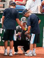 16-8-09, Den Bosch,Nationale Tennis Kampioenschappen, Finale mannen, Ballenwissel