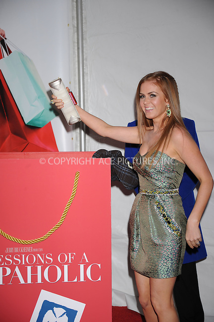WWW.ACEPIXS.COM . . . . . ....February 5 2009, New York City....Actress Isla Fisher arriving at the premiere of 'Confessions of a Shopaholic' at the Ziegfeld Theatre on February 5, 2009 in New York City. ....Please byline: KRISTIN CALLAHAN - ACEPIXS.COM.. . . . . . ..Ace Pictures, Inc:  ..(212) 243-8787 or (646) 679 0430..e-mail: picturedesk@acepixs.com..web: http://www.acepixs.com