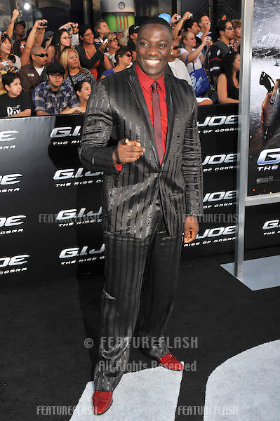 "Adewale Akinnuoye-Agbaje at the Los Angeles premiere of his new movie ""G.I. Joe: The Rise of Cobra"" at Grauman's Chinese Theatre, Hollywood..August 6, 2009  Los Angeles, CA.Picture: Paul Smith / Featureflash"