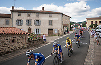 yellow jersey / GC leader Julian Alaphilippe (FRA/Deceuninck - Quick-Step) in the peloton<br /> <br /> Stage 9: Saint-Étienne to Brioude (170km)<br /> 106th Tour de France 2019 (2.UWT)<br /> <br /> ©kramon