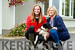 Tara Foley with her mother Martha and her dog Sky.