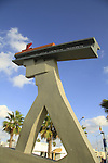 Israel, a monument to the Hebrew Worker in Tel Aviv Port