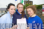 Jessica Murphy, Ciara O'Shea and Rebecca Galvin who started the Leaving Cert on in St Brigid's Killarney on Wednesday