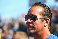 Aug. 3, 2014; Kent, WA, USA; NHRA funny car driver Jeff Diehl during the Northwest Nationals at Pacific Raceways. Mandatory Credit: Mark J. Rebilas-