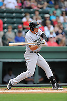 Designated hitter Jonah Arenado (20) of the Augusta GreenJackets bats in a game against the Greenville Drive on Sunday, April 12, 2015, at Fluor Field at the West End in Greenville, South Carolina. Augusta won, 2-1. (Tom Priddy/Four Seam Images)