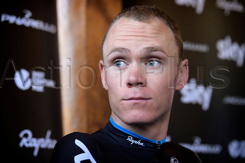 21.07.2015. Gap, France,  FROOME Christopher and Dave Brailsford of Team Sky talking during a press conference on the second rest day of the 102nd edition of the Tour de France 2015 in Gap, France