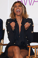 BEVERLY HILLS, CA - NOVEMBER 05: Singer Ciara shows off her 15-carat emerald cut diamond engagement ring (engaged to Rapper Future) at the People's Choice Awards 2014 Nominations Announcement held at The Paley Center for Media on November 5, 2013 in Beverly Hills, California. (Photo by Xavier Collin/Celebrity Monitor)