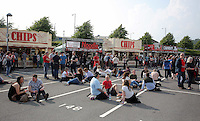 Pictured: Manic Streets Preacher fans Saturday May 2016<br /> Re: Manic Street Preachers at the Liberty Stadium, Swansea, Wales, UK