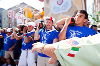 The annual Feast of Our Lady of Mount Carmel and the Dancing of the Giglio in Brooklyn, NY, on July 10, 2011.