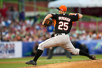 11 March 2009: #24 David Bergman of the Netherlands pitches against Puerto Rico during the 2009 World Baseball Classic Pool D game 6 at Hiram Bithorn Stadium in San Juan, Puerto Rico. Puerto Rico wins 5-0 over the Netherlands