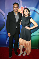 BEVERLY HILLS, CA - AUGUST 8: Jimmy Smits and Caitlin McGee at the 2019 NBC Summer Press Tour at the Wilshire Ballroom in Beverly Hills, California o August 8, 2019. <br /> CAP/MPIFS<br /> ©MPIFS/Capital Pictures