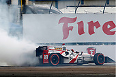 2017 Verizon IndyCar Series - Firestone Grand Prix of St. Petersburg<br /> St. Petersburg, FL USA<br /> Sunday 12 March 2017<br /> Sebastien Bourdais celebrates with donuts<br /> World Copyright: Phillip Abbott/LAT Images<br /> ref: Digital Image lat_abbott_stp_0317_13016
