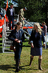 Stamford, Lincolnshire, United Kingdom, 8th September 2019,  Lady Louise Windsor with Jo Lincoln Commander of RAF Wittering whilst visiting the John Egging Trust stand at the 2019 Land Rover Burghley Horse Trials, Credit: Jonathan Clarke/JPC Images