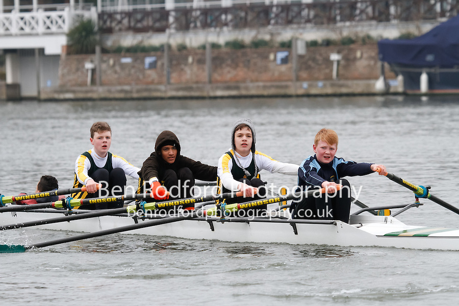 Crew: 104 - Windsor Boys Sch  - J14A.4x+ <br /> <br /> Henley Fours &amp; Eights Head 2017<br /> <br /> To purchase this photo, or to see pricing information for Prints and Downloads, click the blue 'Add to Cart' button at the top-right of the page.