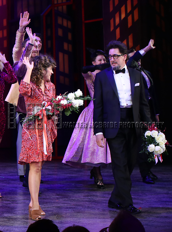 """Sarah Stiles and Reg Rogers during the Broadway Opening Night of """"Tootsie"""" at The Marquis Theatre on April 22, 2019  in New York City."""