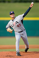 Starting pitcher Cory Luebke #25 of Team USA in action versus Team Canada at the USA Baseball National Training Center, September 4, 2009 in Cary, North Carolina.  (Photo by Brian Westerholt / Four Seam Images)