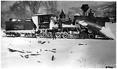 D&amp;RGW #286 with large snow plow at Chama, New Mexico.<br /> D&amp;RGW  Chama, NM