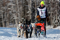 Anna Stephan on the trail on the way to the finish of the 2018 Junior Iditarod in Willow, Alaska. Sunday February 25, 2018<br /> <br /> Photo by Jeff Schultz/SchultzPhoto.com  (C) 2018  ALL RIGHTS RESERVED