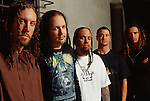Various portrait sessions of the rock band, Korn