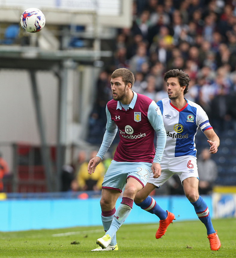 Aston Villa's Gary Gardner in action<br /> <br /> Photographer Alex Dodd/CameraSport<br /> <br /> The EFL Sky Bet Championship - Blackburn Rovers v Aston Villa - Saturday 29th April 2017 - Ewood Park - Blackburn<br /> <br /> World Copyright &copy; 2017 CameraSport. All rights reserved. 43 Linden Ave. Countesthorpe. Leicester. England. LE8 5PG - Tel: +44 (0) 116 277 4147 - admin@camerasport.com - www.camerasport.com