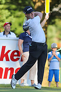 Bethesda, MD - July 1, 2017: David Lingmerth hits his tee shot during Round 3 of professional play at the Quicken Loans National Tournament at TPC Potomac in Bethesda, MD, July 1, 2017.  (Photo by Elliott Brown/Media Images International)