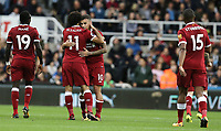 Liverpool's Philippe Coutinho (No.10) celebrates scoring the opening goal <br /> <br /> Photographer Rich Linley/CameraSport<br /> <br /> The Premier League -  Newcastle United v Liverpool - Sunday 1st October 2017 - St James' Park - Newcastle<br /> <br /> World Copyright &copy; 2017 CameraSport. All rights reserved. 43 Linden Ave. Countesthorpe. Leicester. England. LE8 5PG - Tel: +44 (0) 116 277 4147 - admin@camerasport.com - www.camerasport.com