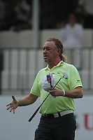 Miguel Angel Jimenez (ESP) on the 18th during Round 3 of the UBS Hong Kong Open 2012, Hong Kong Golf Club, Fanling, Hong Kong. 17/11/12...(Photo Jenny Matthews/www.golffile.ie)