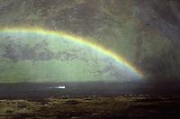 ISLANDA: paesaggio naturale. Un arcobaleno nei pressi di un fiume.