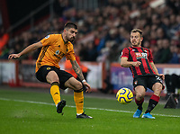 Wolverhampton Wanderers' Ruben Neves (left) vies for possession with Bournemouth's Ryan Fraser (right) <br /> <br /> Photographer David Horton/CameraSport<br /> <br /> The Premier League - Bournemouth v Wolverhampton Wanderers - Saturday 23rd November 2019 - Vitality Stadium - Bournemouth<br /> <br /> World Copyright © 2019 CameraSport. All rights reserved. 43 Linden Ave. Countesthorpe. Leicester. England. LE8 5PG - Tel: +44 (0) 116 277 4147 - admin@camerasport.com - www.camerasport.com