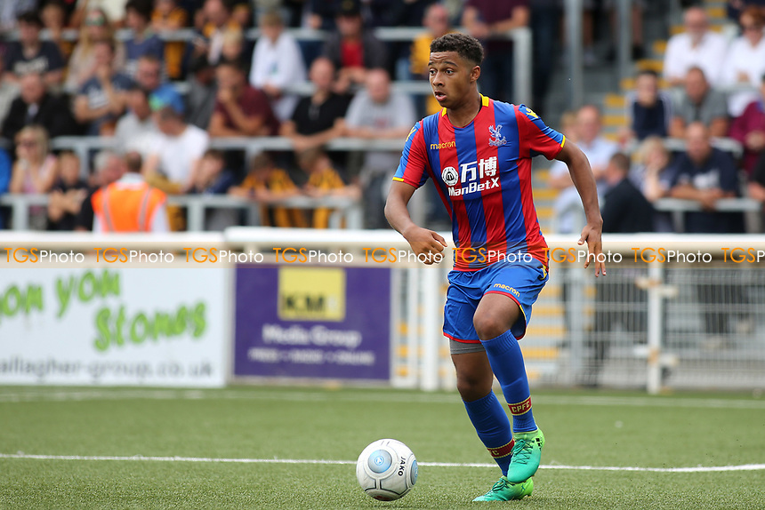 Tyler Brown of Crystal Palace in action during Maidstone United  vs Crystal Palace, Friendly Match Football at the Gallagher Stadium on 15th July 2017