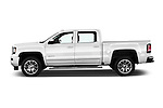 Car Driver side profile view of a 2016 GMC Sierra 1500 Denali 4WD Crew Cab Short Box Denali 4 Door Pick-up Side View