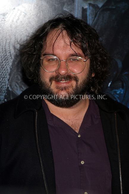 Director Director Peter Jackson at the World Premiere of The Lord of the Rings: The Two Towers. New York, December 5, 2002...Please byline: Alecsey Boldeskul/NY Photo Press.   ..*PAY-PER-USE*      ....NY Photo Press:  ..phone (646) 267-6913;   ..e-mail: info@nyphotopress.com