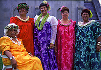 Lei queen and princesses at Mauna ëAla Ceremony