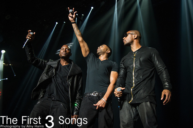 Ginuwine, Tank, and Tyrese of TGT performs at the 2013 Essence Festival at the Mercedes-Benz Superdome in New Orleans, Louisiana.