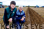 Michael J and Jimmy Donnegan from Causeway checking the ridges after ploughing at the Ardfert Ploughing on Sunday.