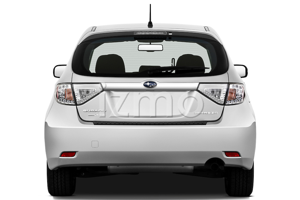 Straight rear view of a 2010 Subaru Impreza Wagon 2.5i Premium