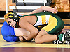 Joe Becker of Lynbrook, right, battles Dan Gibson of Port Washington at 106 pounds during the Nassau County Division I varsity wrestling finals at Hofstra University on Sunday, Feb. 12, 2017. Becker won by pin at 4:52 to become county champion.